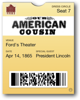 Ford's Theater Ticket