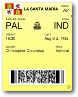 Columbus Boarding Pass